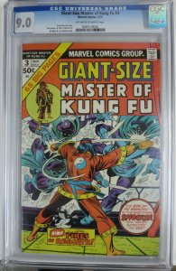 GIANT SIZE MASTER OF KUNG-FU #3 (Marvel,3/1975) CGC 9.0