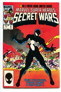 Secret Wars #8-1st Black Costume Spider-Man comic book 1984