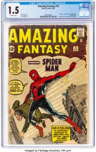 Amazing Fantasy #15 CGC Graded 1.5 Origin and 1st Appearance of Spider Man (P...