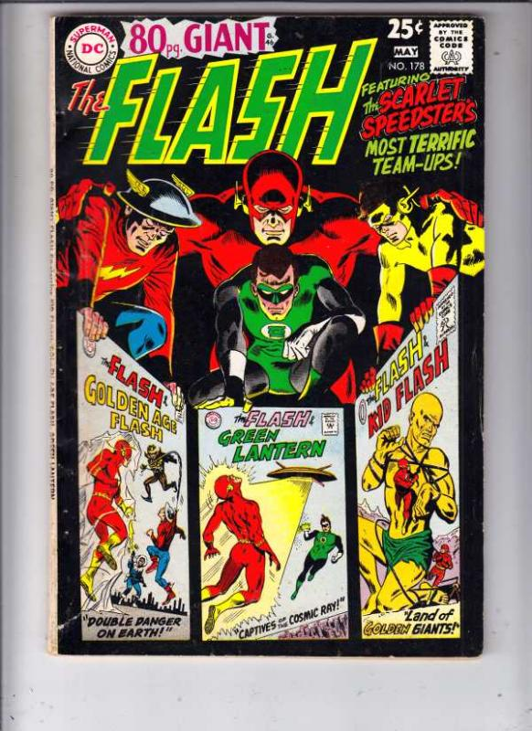 Flash, The #178 (May-68) FN/VF Mid-High-Grade Flash
