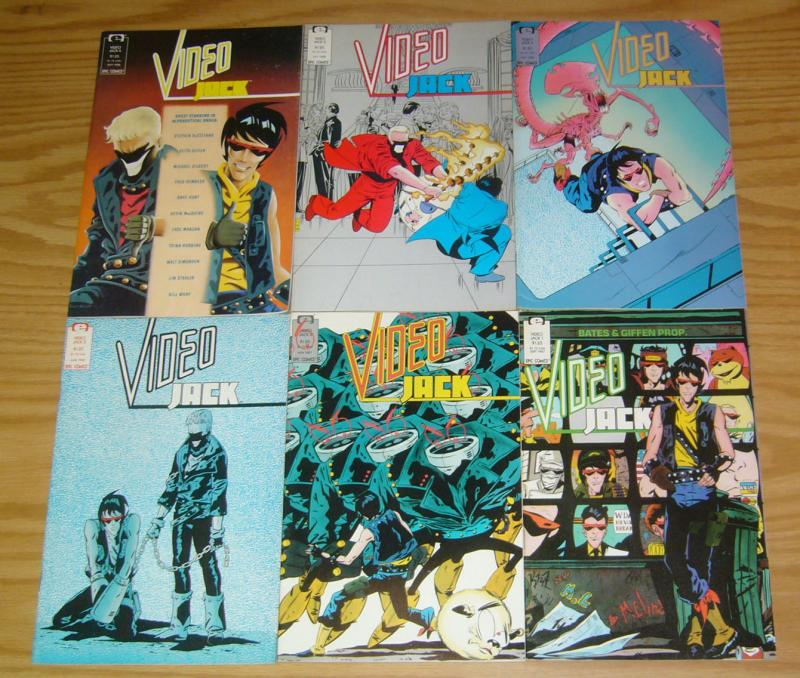 Video Jack #1-6 VF/NM complete series KEITH GIFFEN epic comics set 2 3 4 5 lot