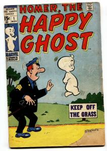 HOMER THE HAPPY GHOST #1 comic book 1969-KEY ISSUE-MARVEL DECARLO g-
