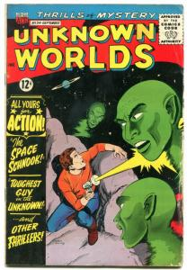 Unknown Worlds #34 1964- ACG Silver Age- ray gun cover G
