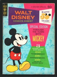Walt Disney Comics Digest #40 1973-Special Mickey Mouse issue-VG
