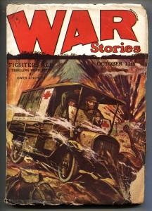 War Stories Pulp October 11 1928- WWI Rudolph Belarski cover