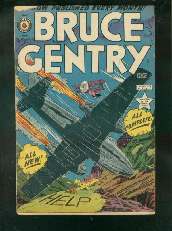 BRUCE GENTRY #6--1949-BI PLANE COVER-BILLY MITCHELL-GGA VG