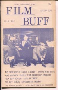 Film Buff Vol.3 #2 10/1973-Lauel & Hardy-historic info-VG