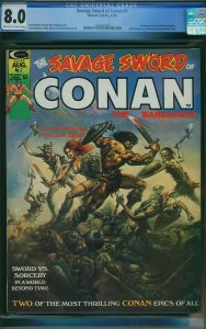 Savage Sword of Conan #1 (Marvel, 1974) CGC 8.0