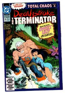 DEATHSTROKE THE TERMINATOR #15-1992-NM-FIRST RAVAGER DC-KEY