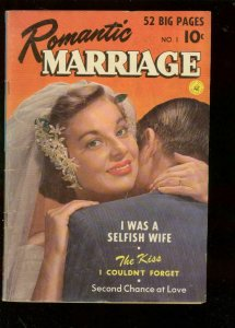 ROMANTIC MARRIAGE #1 1950-CARY GRANT PHOTO COVER ISSUE VG-