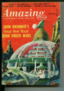 AMAZING STORIES 12/1966-PULP SCI-FI-MACDONALD-BINDER-DICK-FRANK R PAUL-vg