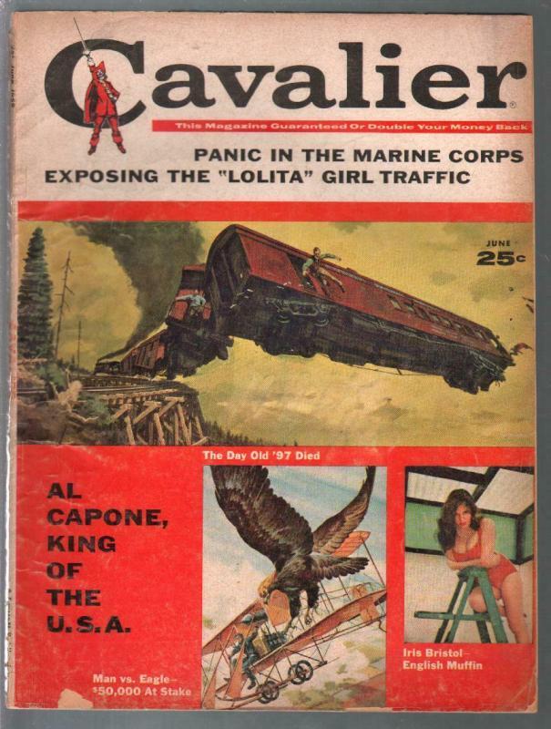 Cavalier 6/1959-Al Capone-Iris Bristol-pulp thrills-cheesecake-G