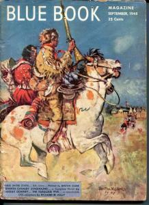 BLUE BOOK PULP-SEPT 1948-VG-CLARK COVER-BEDFORD-JONES-JOHN D MACDONALD VG