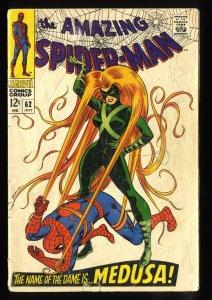 Amazing Spider-Man #62 GD/VG 3.0 Medusa!