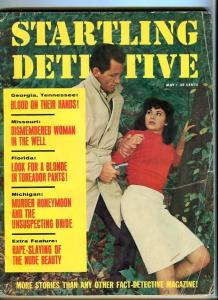 STARTLING  DETECTIVE-MAY/1965-NUDE BEAUTY-DISMEMBERED WOMAN-BUNNY GIRL FR
