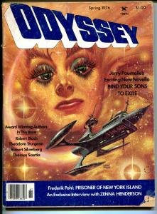Odyssey #1 Spring 1976-Kelly Freas cover-Robert Bloch-Frederik Pohl-pulp-G