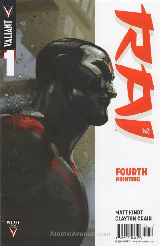 Rai (2nd Series) #1 (4th) FN; Valiant | save on shipping - details inside