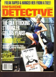 Inside Detective Magazine November 1985- Midnight Cowboys