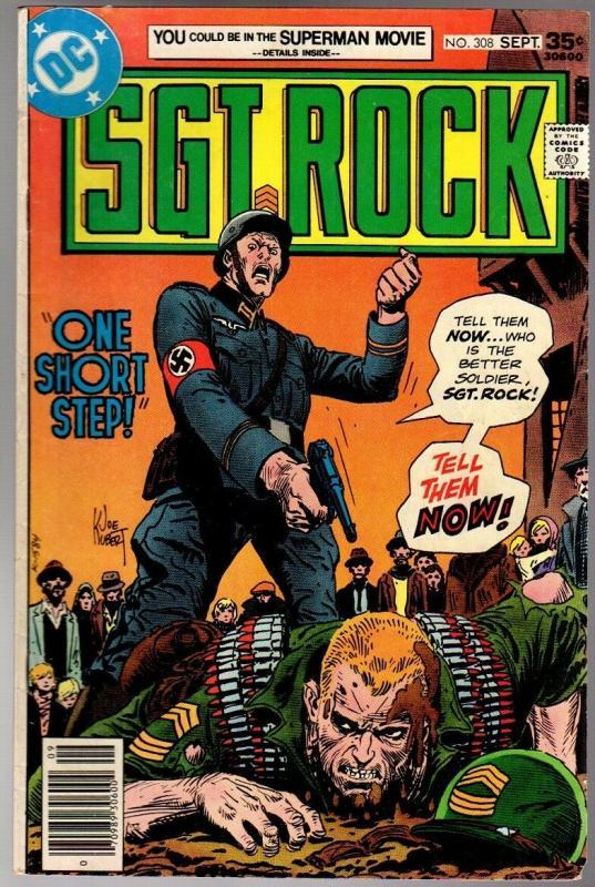 SGT ROCK 308 VG+   Sept. 1977