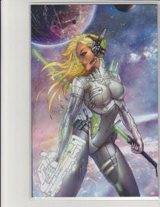 Cyber Spectre #1 Kickstarter Exclusive Jamie Tyndall Virgin Cover Scout NM
