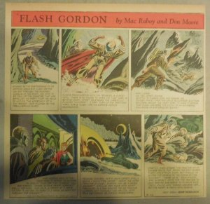 Flash Gordon Sunday Page by Mac Raboy from 3/22/1953  2/3's Full Page Size