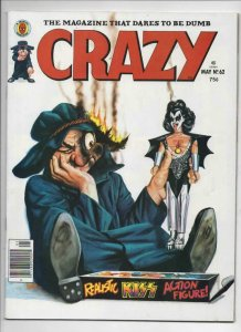 CRAZY #62 Magazine, VF-, KISS Gene Simmons, Teen Hulk, 1973 1980, more in store