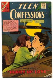 Teen Confessions #40 1966- Charlton- make out cover FN