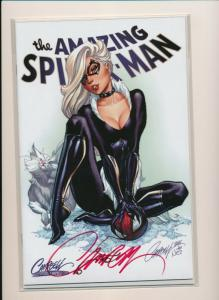 AMAZING-SPIDERMAN #14 VARIANT COVER C SIGNED J.SCOTT CAMPBELL COA NM (RS2)