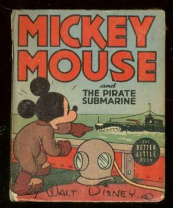 MICKEY MOUSE #1463-PIRATE SUBMARINE-BIG LITTLE BOOK '39 VG/FN