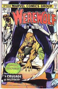 Werewolf by Night #26 (Feb-75) FN+ Mid-Grade Werewolf