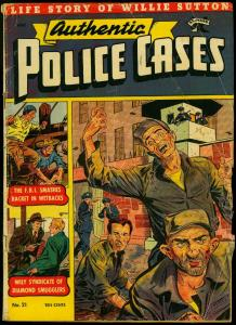 Authentic Police Cases #21 1952- St John Comics- Matt Baker- Non PC story G+