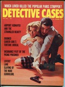 Detective Cases 5/1965-Brookside-violent cover-crime & pix-pulp thrills-FN