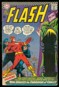 THE FLASH #162 1966-DC COMICS-TUNNEL OF TERRORS-HORROR G