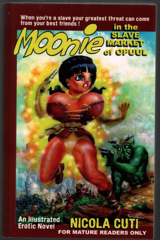 Moonie in the Slave Market of Opuul-Cuti Cover Art-2010-signed art work-FN