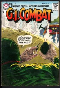 G.I. COMBAT #51 1958- dc war - GREY TONE COVER