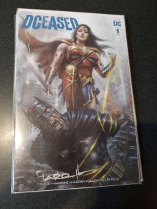 DCEASED #1 AUTOGRAPHED BY LUCIO PARRILLO SCORPION COMICS VARIANT
