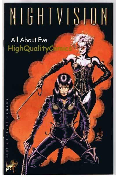 NIGHT VISION All About EVE #1, NM-, David Quinn, 1996, more indies in store