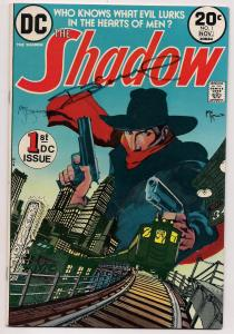 DC Comics The SHADOW #1 SIGNED by Michael W Kaluta and Dennis O'Neil 1973