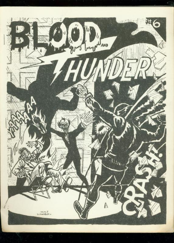 BLOOD AND THUNDER -RARE COMIC BOOK FANZINE #6-1967- FN