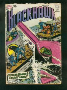 BLACKHAWK COMICS #128 1958-DC COMICS-RETURN OF KILLER SHARK-good G