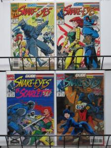 G.I.JOE (Marvel,1982)#135-138 VF-NM complete story. SNAKES EYES & NINJA FORCE