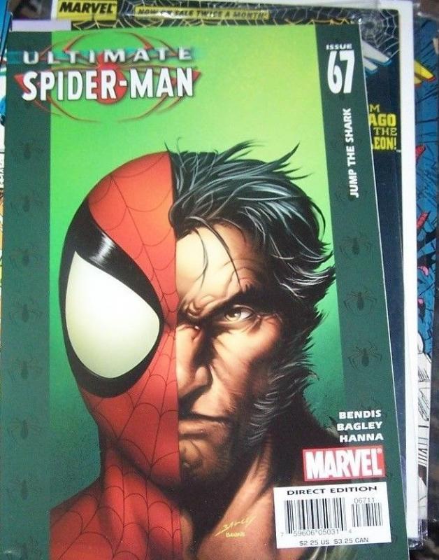 Ultimate Spider-Man #67 (Dec 2004, Marvel) WOLVERINE JUMP THE SHARK