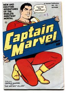 CAPTAIN MARVEL ADVENTURES  #125 comic book 1951-FAWCETT-SIVANA