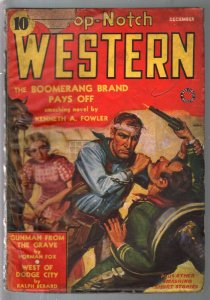 Top-Notch Western 12/1939-J W Scott GGA cover-western pulp thrills-G+