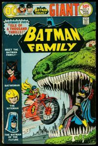 BATMAN FAMILY #3 1976-DINOSAUR- MOTORCYCLE-BATWOMAN- VG