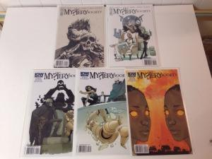 My?tery Society 1-4 Near Mint Lot Set Plus Sketch Variant Mystery Society