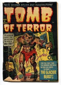 TOMB OF TERROR  #4 1952-HARVEY-MONSTER COVER-DECAPITATION-SKULLS-HORROR-G