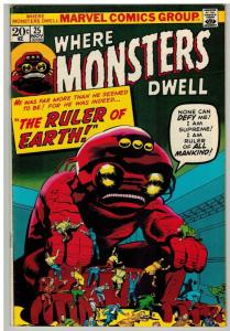 WHERE MONSTERS DWELL 25 F-VF Nov. 1973