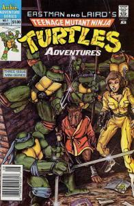 Teenage Mutant Ninja Turtles Adventures (1st Series) #1 (Newsstand) FN; Archie |