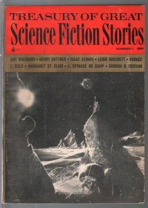 Treasury of Great Science Fiction Stories #1 1964-Brsdbury-Asimov-pulp fiction-V